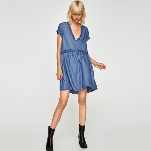 2e088d95505c Zara Ruffled Mini Dress. M_5b0afe0a2c705d7f6bd97cd0